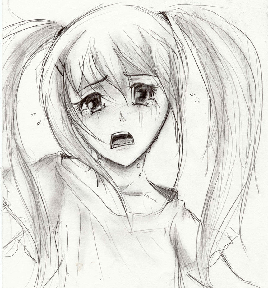 Crying Girl by Luisabel123 on DeviantArt