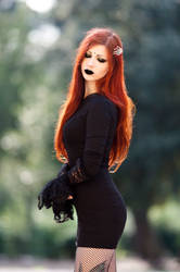 Redhead Dark Lady by CradleOfDoll