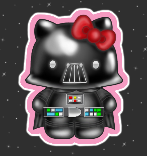 Hello kitty vader by strangeangel75 on deviantart - Dark vador hello kitty ...