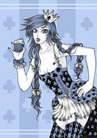 candy cards - queen of clubs