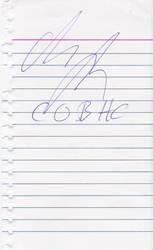 Alexi's autograph