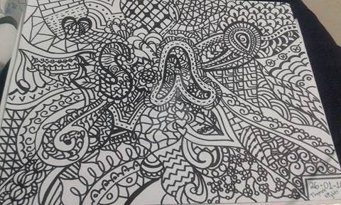 Zentangle comision by ThymeleNights