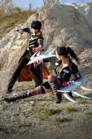 Suzuki Adelheid vs Hibari Kyoya by AliceBlacfox
