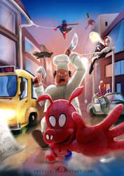 Spider-Food by irissee