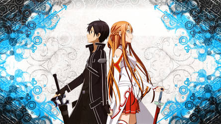 Sword Art Online Kirito and Asuna by kirigawakazuto