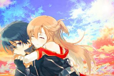 Sword Art Online Kirito and Asuna^^ by kirigawakazuto