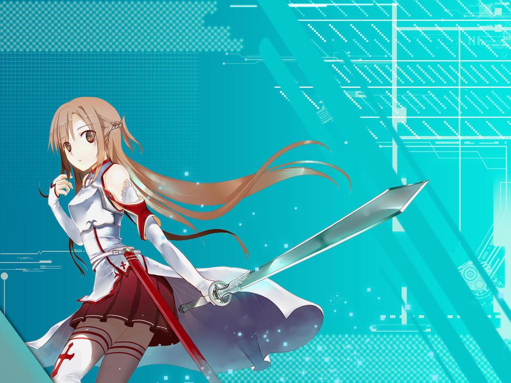 Asuna Wallpaper Tech theme by kirigawakazuto
