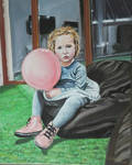 Girl with a balloon by 4ratko