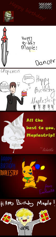 Happy Birthday, Maplestrip!
