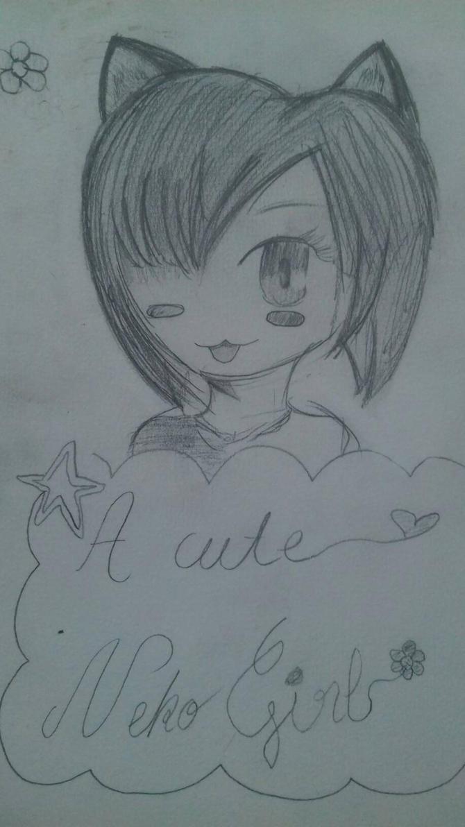 A cute neko girl  by KawaiiUnagi