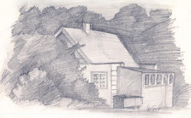 A House In A Spinney by Gertrudja