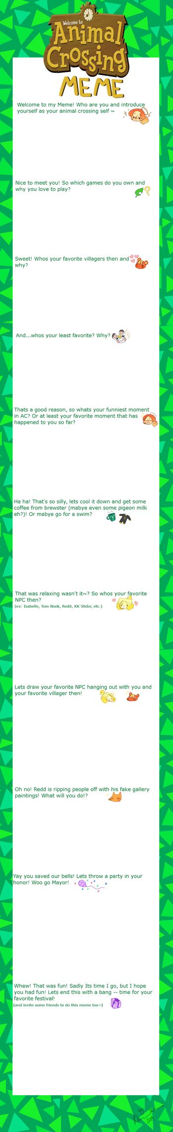 Animal Crossing Meme by Ruhianna