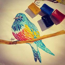 Bird by nekoushiromiya