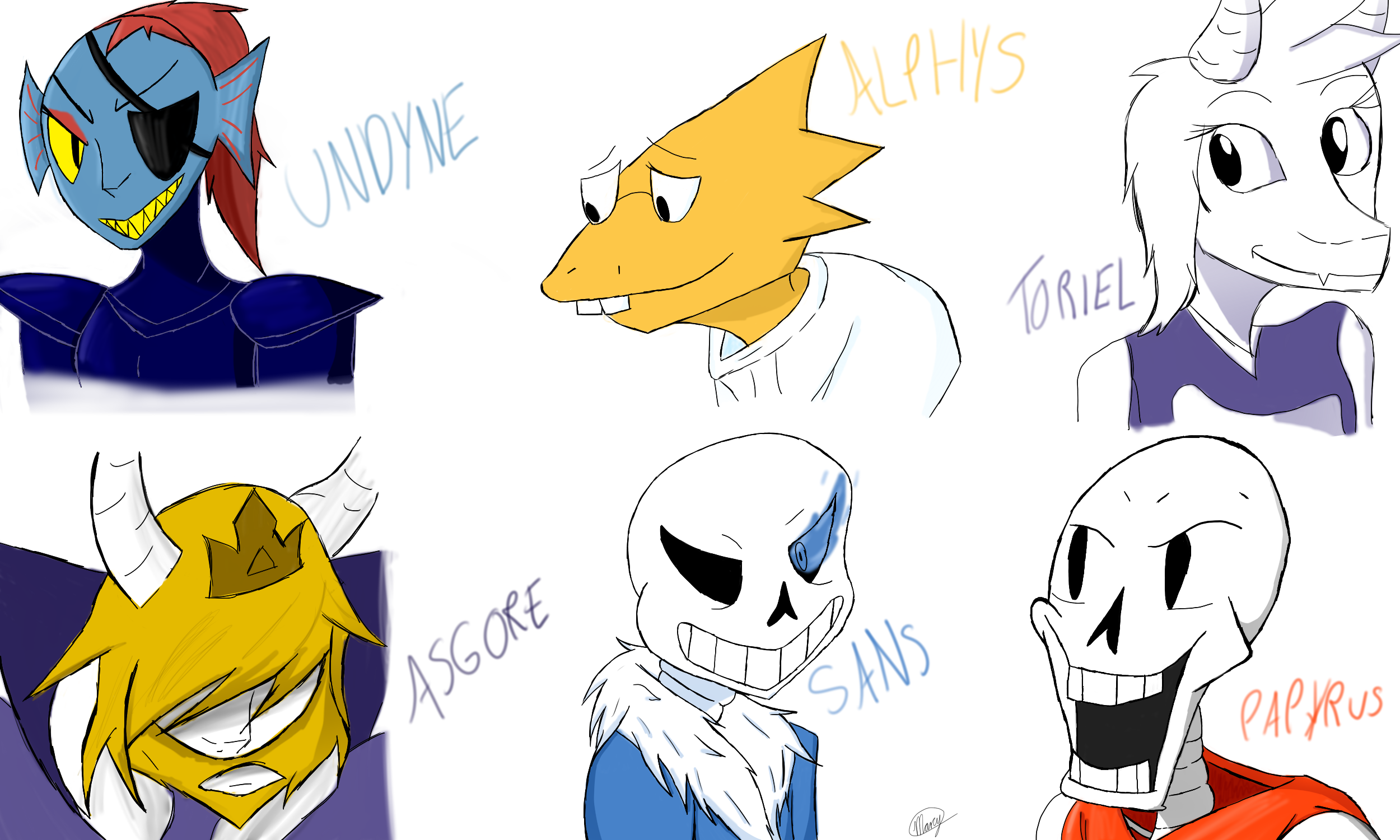 Weird Paint Color Names Undertale Characters By Marcy119 On Deviantart