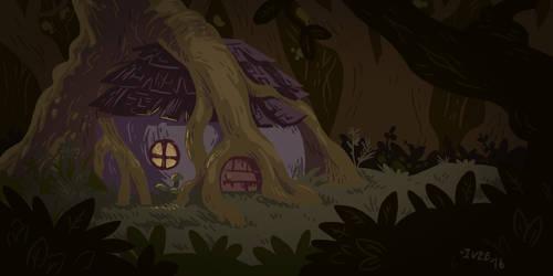 Morgan's Hut by iveechan-art