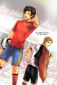 Spain VS German by scarlet-xx