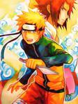 Naruto and Sasuke by scarlet-xx