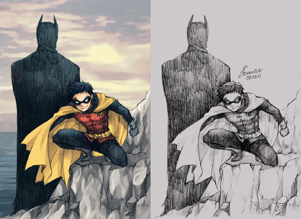 Batman and Robin by scarlet-xx
