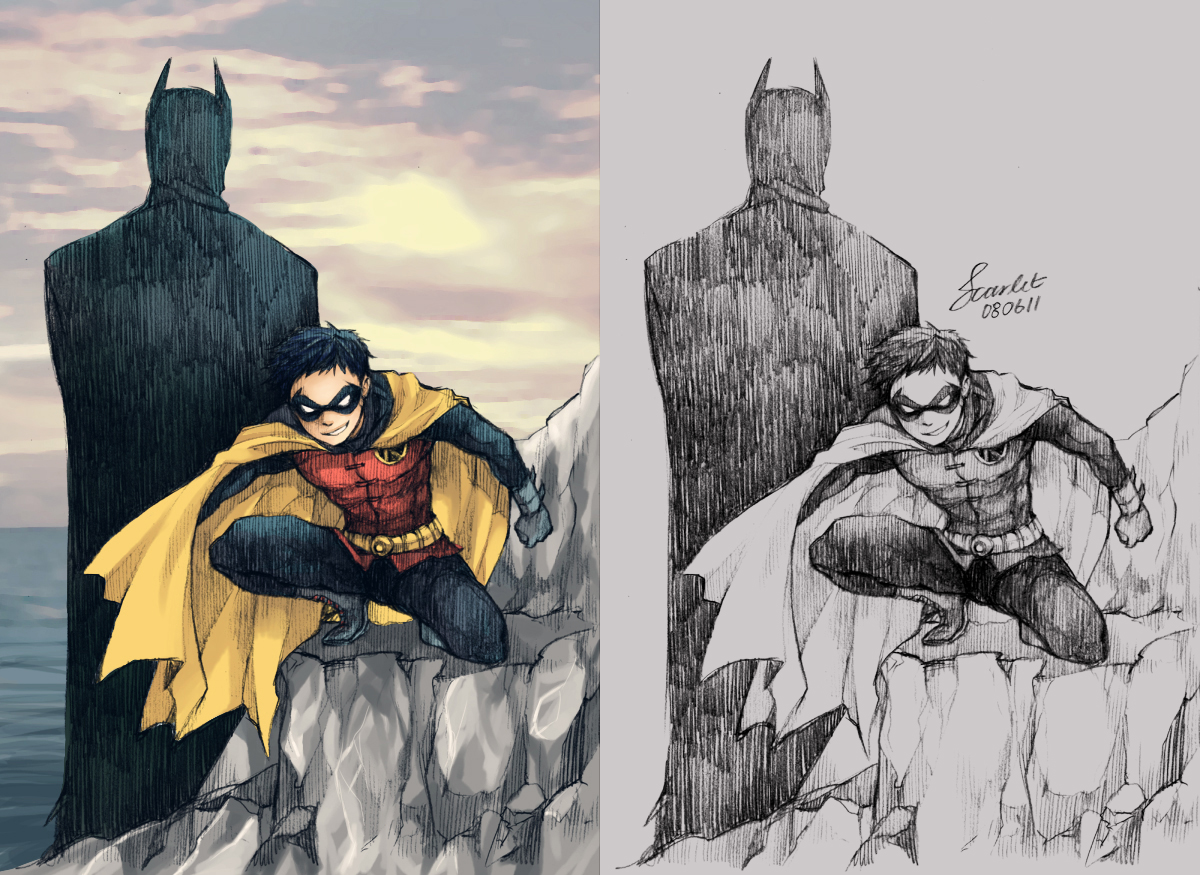 Batman and Robin by scarlet-xx