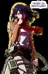 Mikasa Ackerman - Shingeki no Kyojin Render( III )