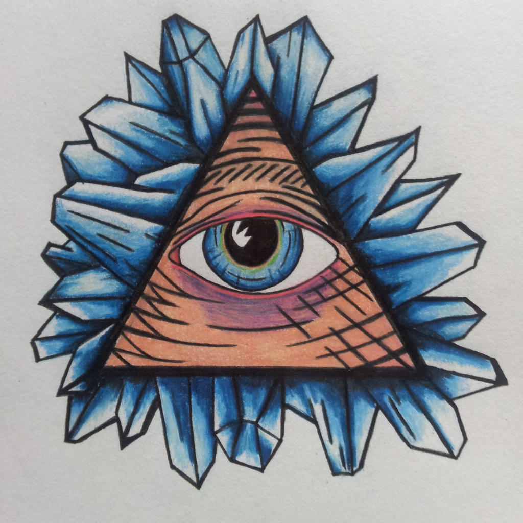 Illuminati Tattoos Designs Illuminati eye w/ crystal