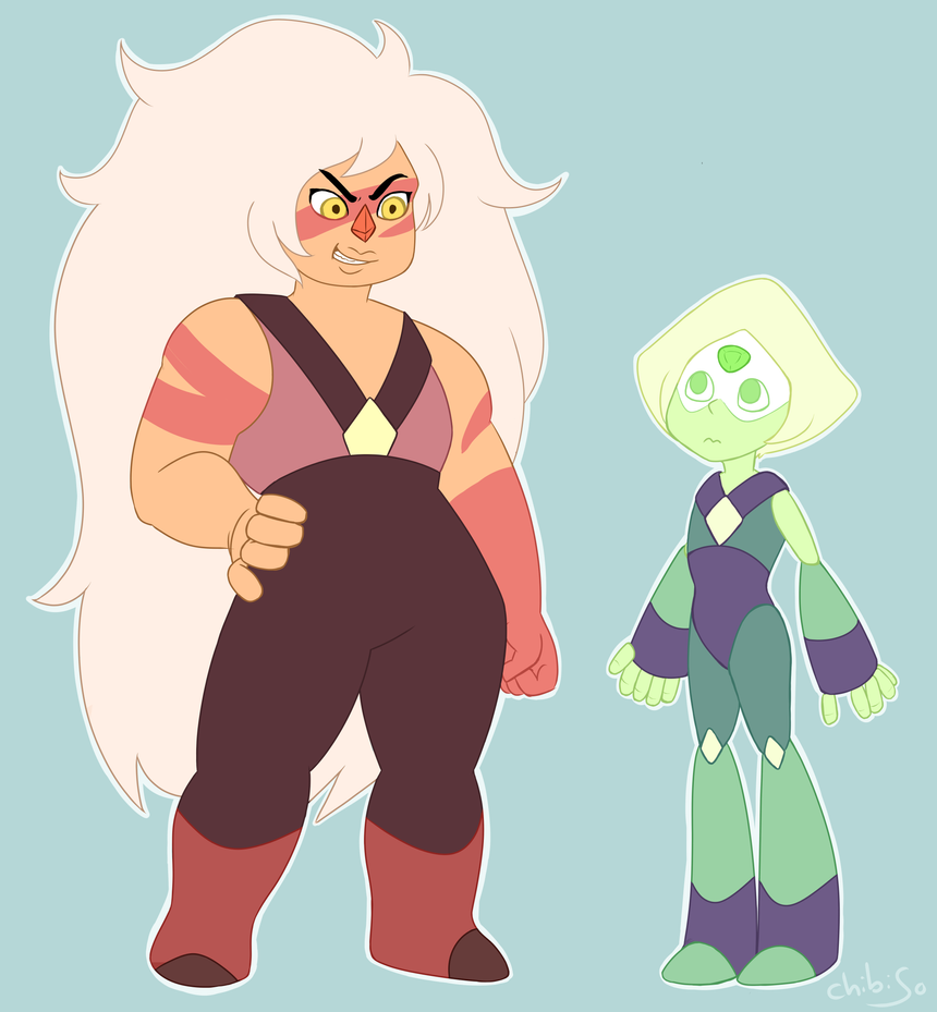 yeah, i got no ideas what to call this. Jasper and Peridot (c) Rebecca Sugar