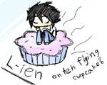 L-ien on the flying cupcake