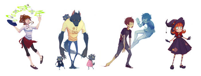 More random characters by Naimane