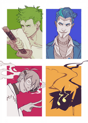 Six fanarts challenge except there's only 4
