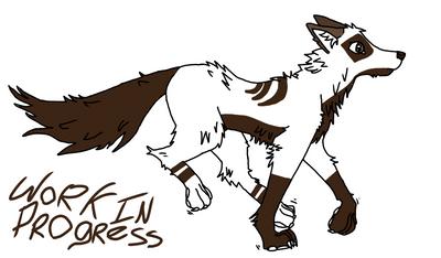 Work in progress~feather clan wolf by FlipTheFrogYT