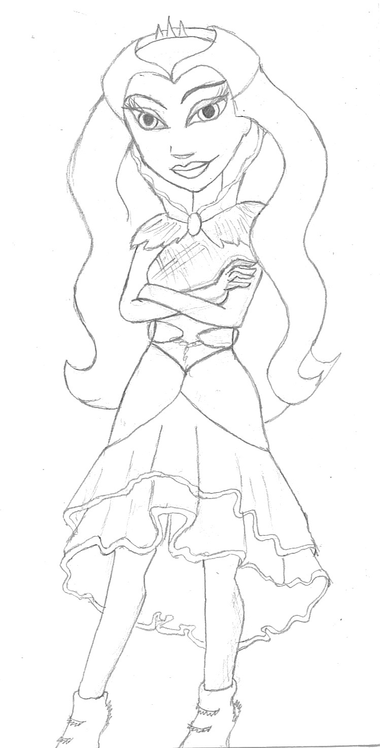 how to draw ever after high raven queen