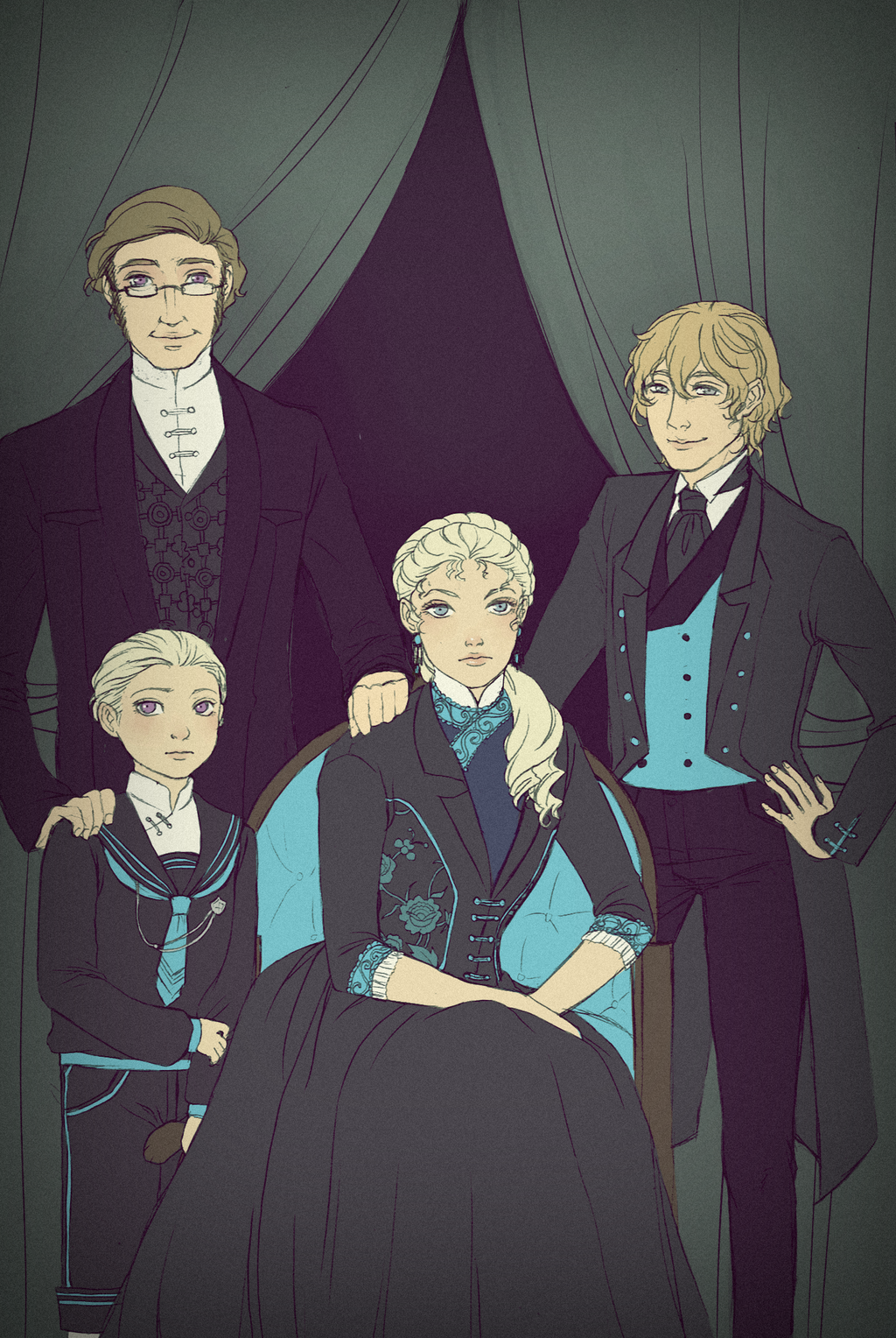 VT: Family Portrait by Dhirento