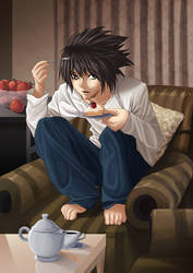 Death Note - L by insomniacvampire