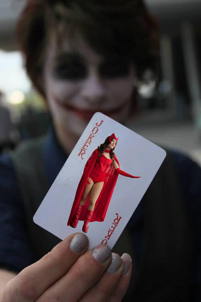 Scarlet Witch trapped by Joker by sintruder