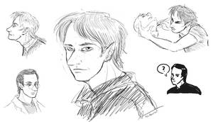 Young Noonien Soong Sketches