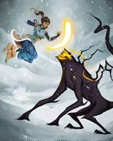 Korra and the Spirit by MeTaa