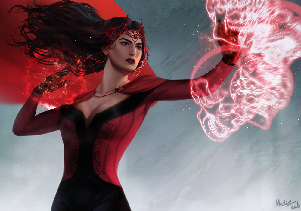 Scarlet witch by metaa on deviantart