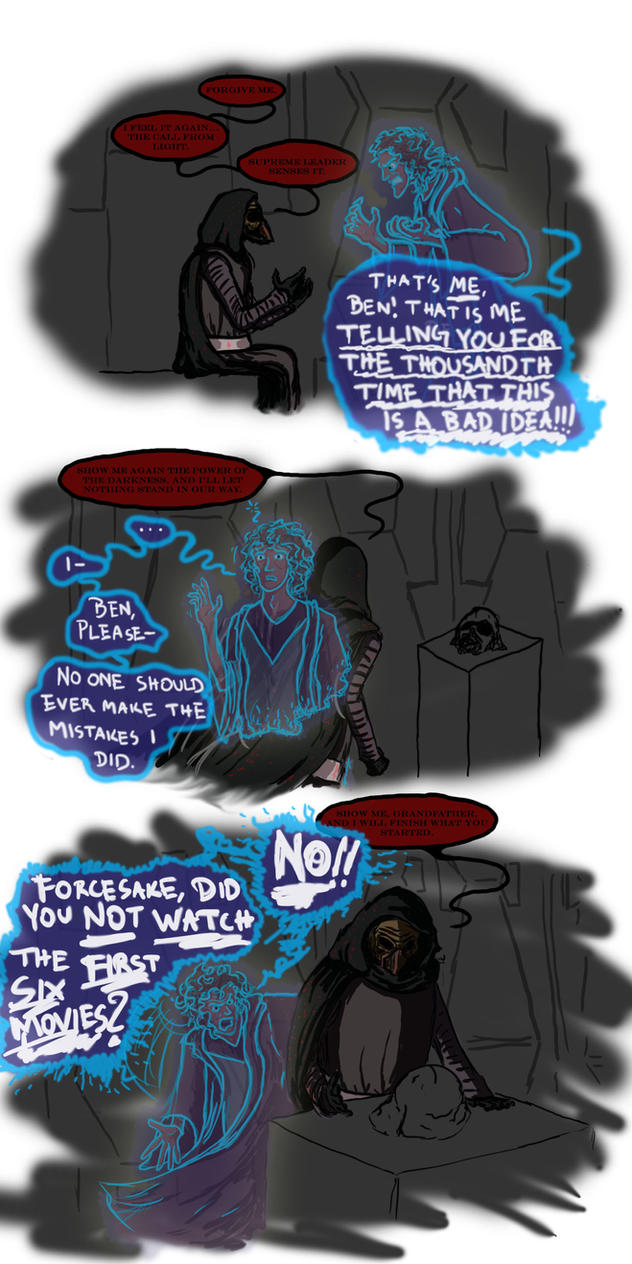 [STAR WARS SPOILERS!!!] the call from light by SlightlyDraconic