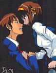 Kyon And Haruhi -- The Melancholy Of Haruhi Suzumi