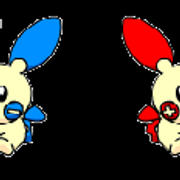 Plusle and Minun by YumiofApeEscape3