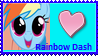 Rainbow Dash stamp by Freddylover13