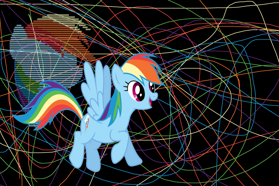 Rainbow Dash 20 Cooler Wallpaper By Freddylover13
