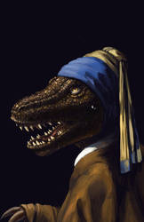 Rex with a Pearl Earring