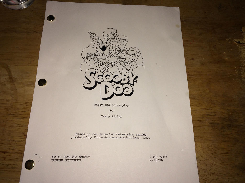Craig Titley Scooby-Doo 1996 Screenplay by Chillmon ...