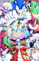 Sonic and the gang by Virus-20