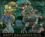 Zombie Gloria And Zombie Alice. Halloween 2015.