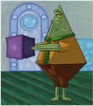 SpongeBob. Flats The Flounder.