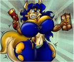 Carmilita Fox. Breast And Butt Growth.