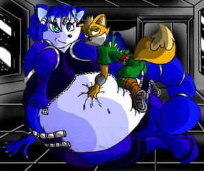HUGE Krystal and fox by Virus-20