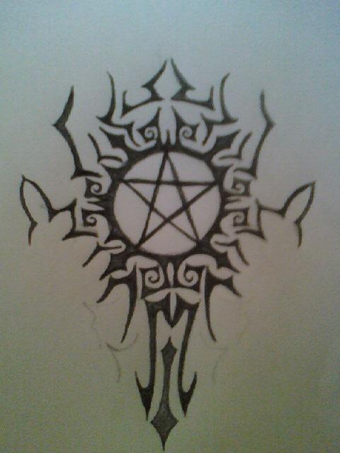 pentagram tattoo design w i p by beanie jess 09 on deviantart. Black Bedroom Furniture Sets. Home Design Ideas